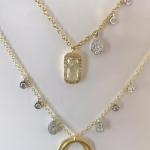 14kt white, yellow, rose gold diamond necklaces, earrings, rings klaces, earrings1
