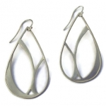 Sterling silver, brushed finish earrings, pendants