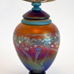 Hand blown glass bowls, vases