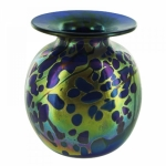 Hand blown glass vases, lamps